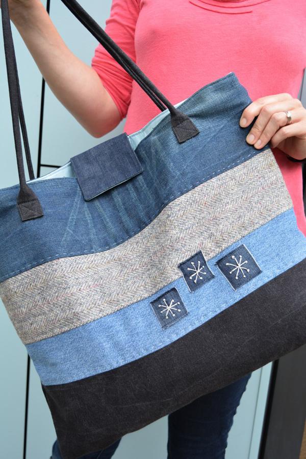 Пляжная сумка из старых джинс своими руками выкройки
