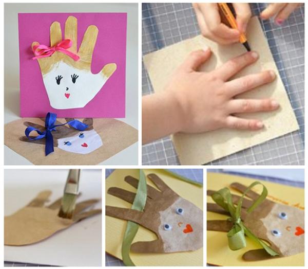 Сделай сам своими руками подарок маме из картона и бумаги