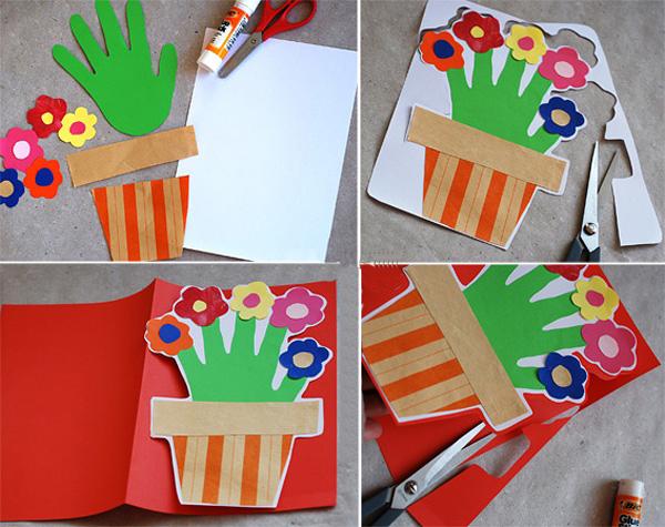 Детские открытки к 8 марта. Детская открытка на 8 марта своими руками