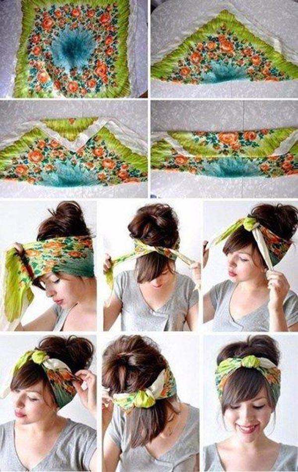 Платок на голову. Как завязать платок на голову?