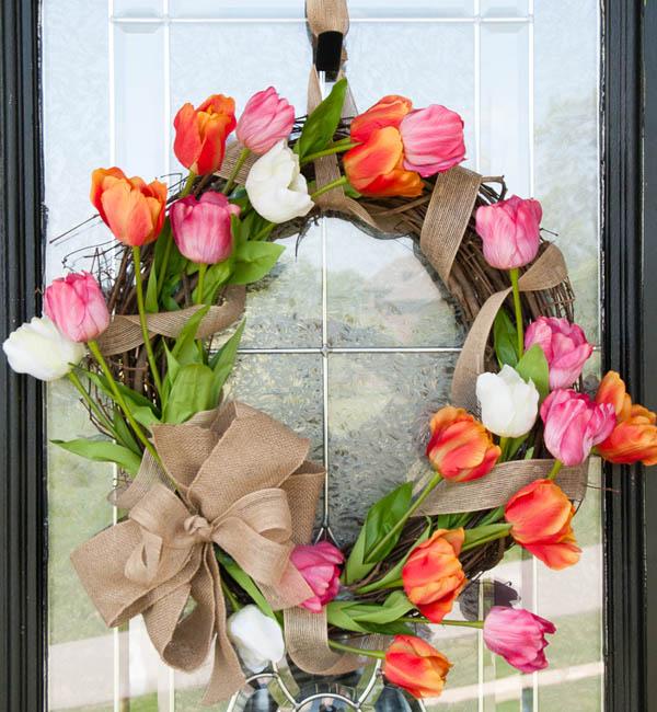 Весенний венок: весенний венок своими руками на дверь