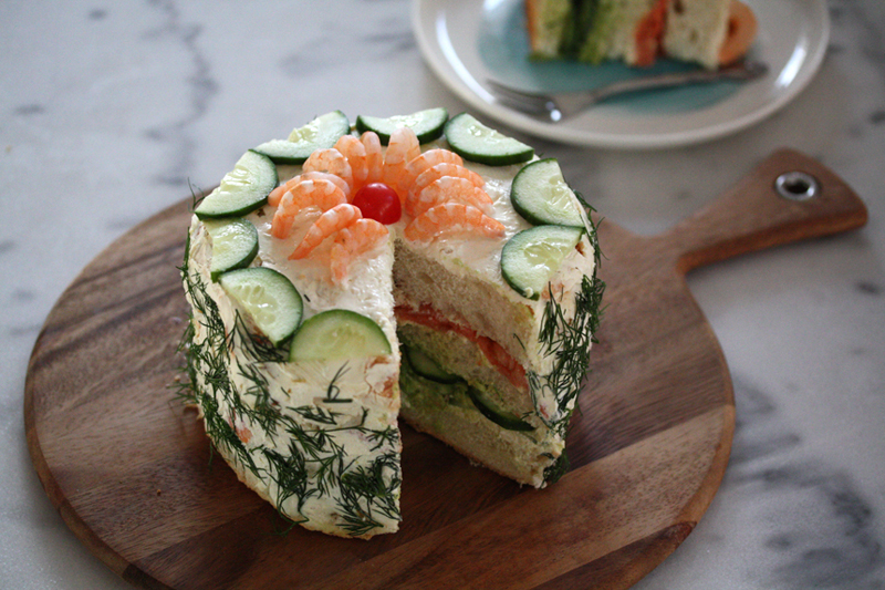 Торт из хлеба, торт из батона, торт бутерброд своими руками