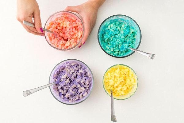 Макароны с сыром рецепт: цветные макароны «Радуга»