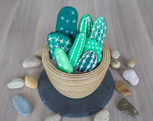 Кактусы из камней: кактусы из камней своими руками