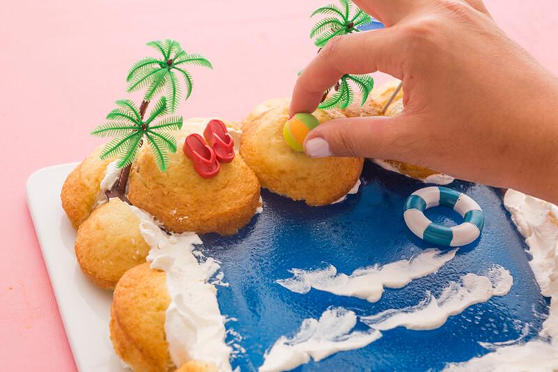 Торт Море своими руками: торт в виде Моря, Пляжа