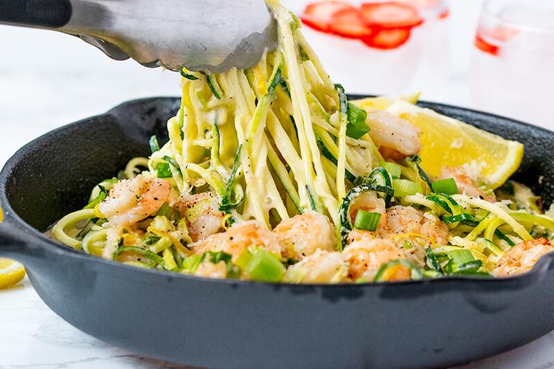 Паста с креветками в сливочном соусе рецепт