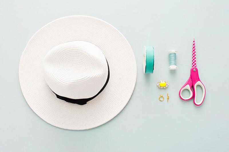 Украшение на шляпку своими руками 495