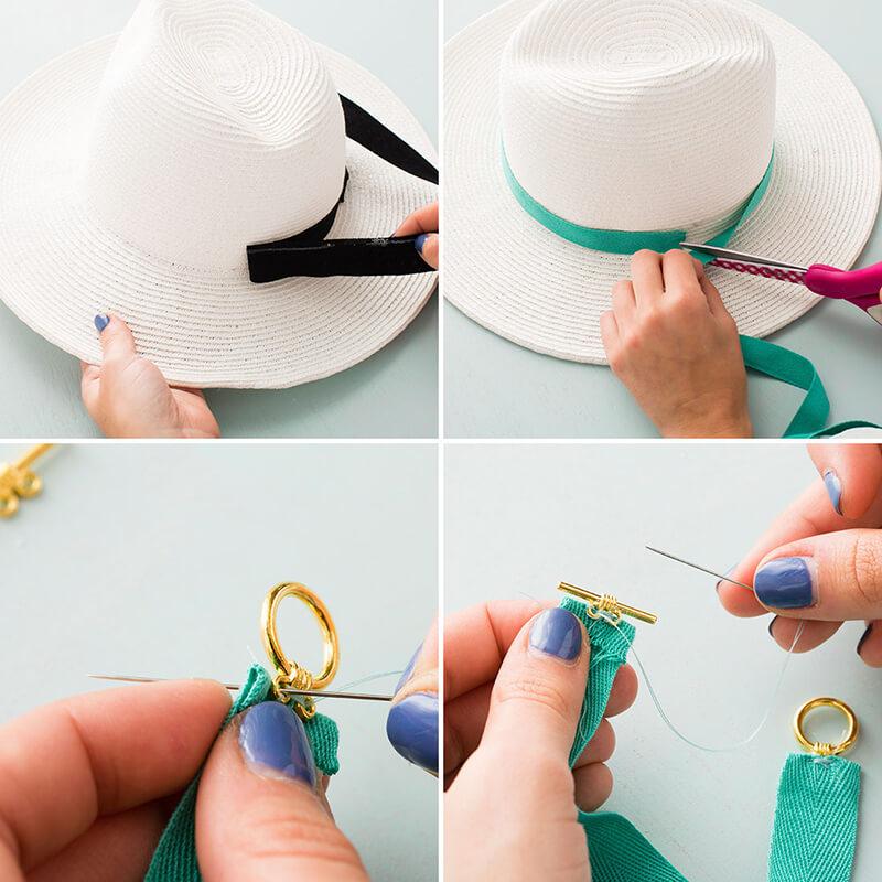 Оформление шляпы своими руками 60
