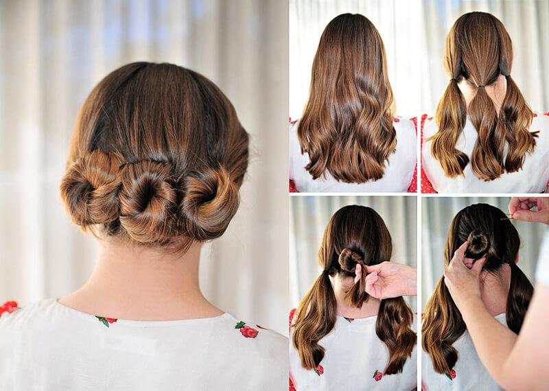 Идея прически на средние волосы  в картинках 13