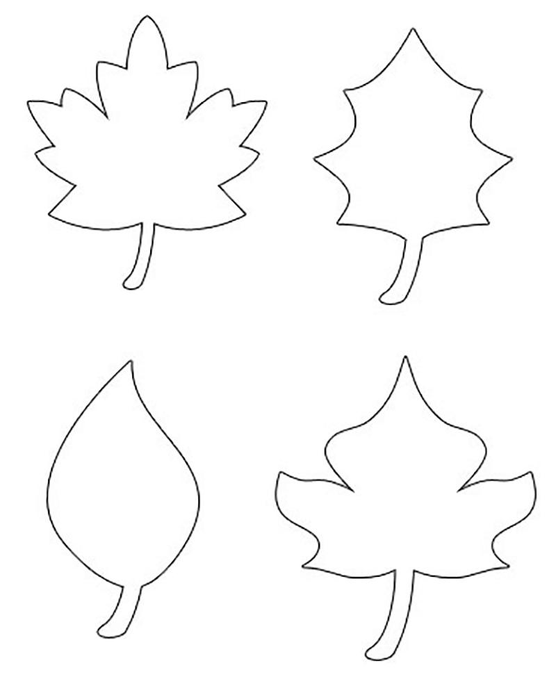 Осенние листья шаблоны скачать
