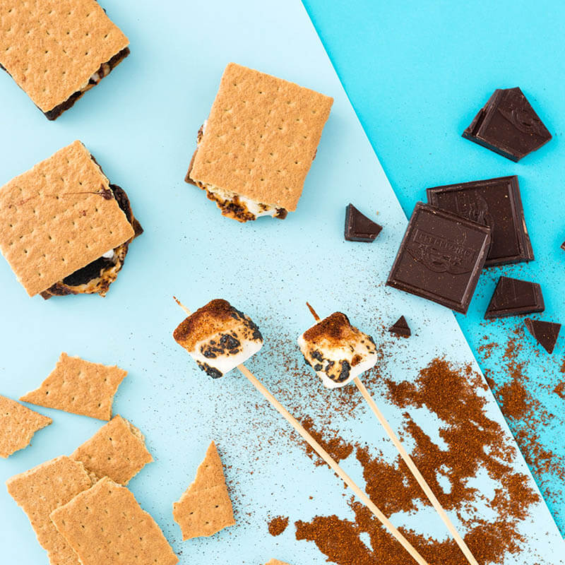 Пирожное из печенья и воздушного зефира маршмеллоу рецепт