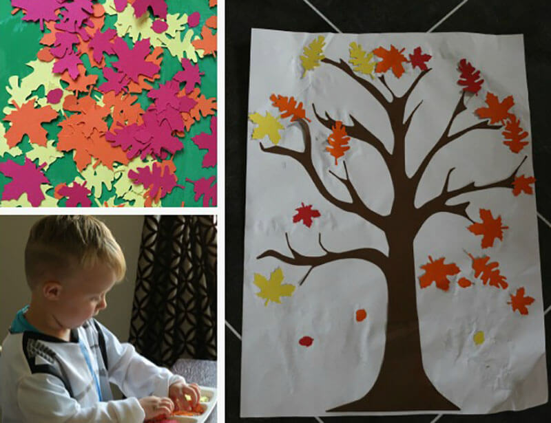 Аппликация Осеннее дерево своими руками
