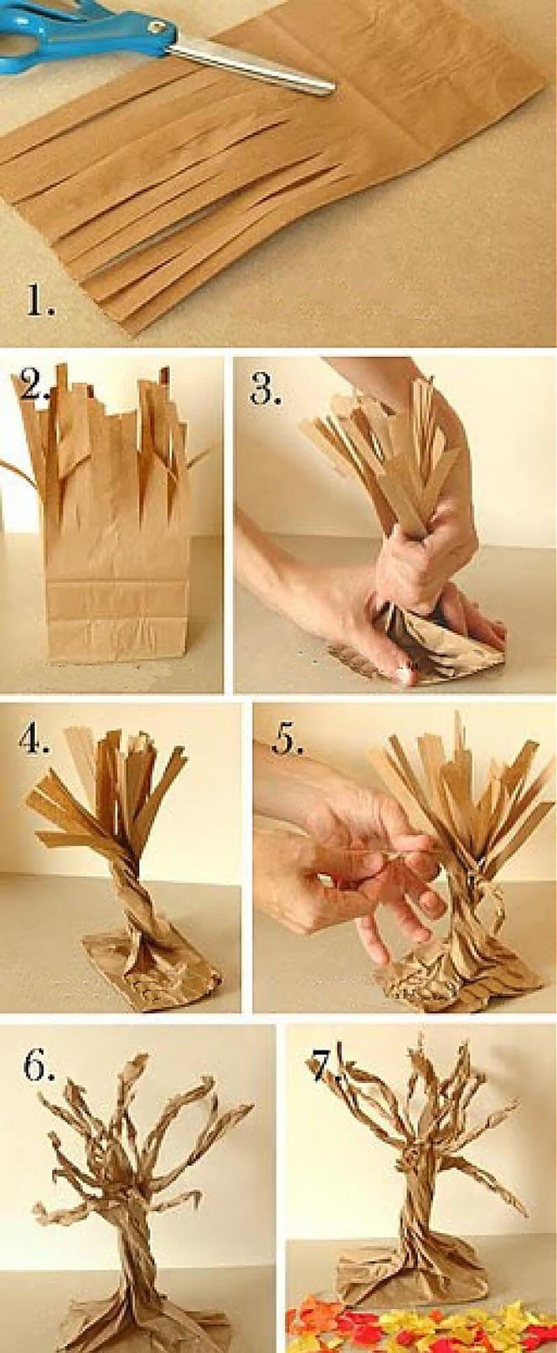 Как своими руками сделать дерево из бумаги своими руками