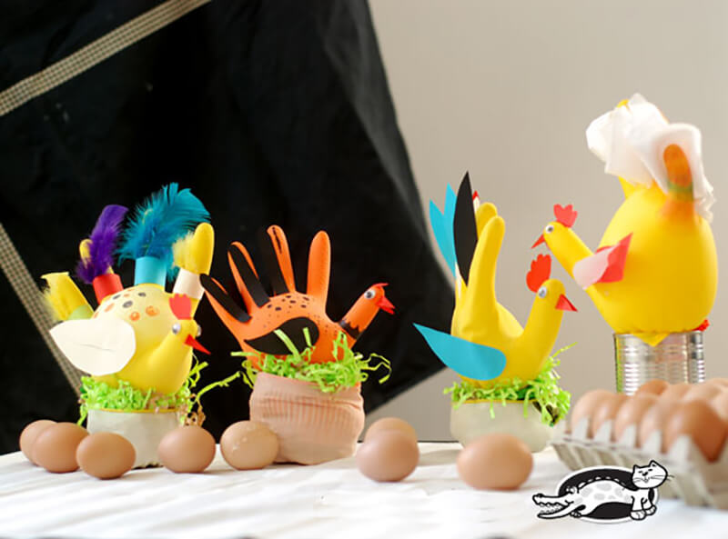 Петух своими руками: как сделать петуха, детские поделки