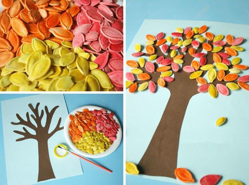 Поделки с детьми на тему деревья 27