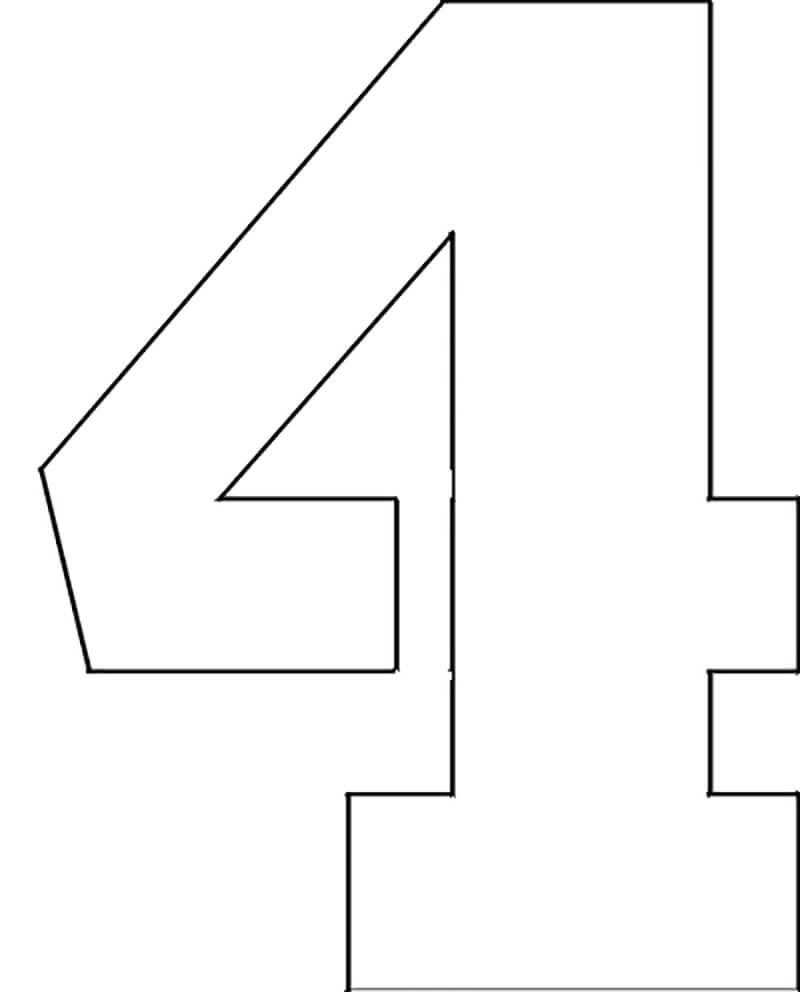 Трафареты цифр для вырезания: шаблоны цифр для декора и печати
