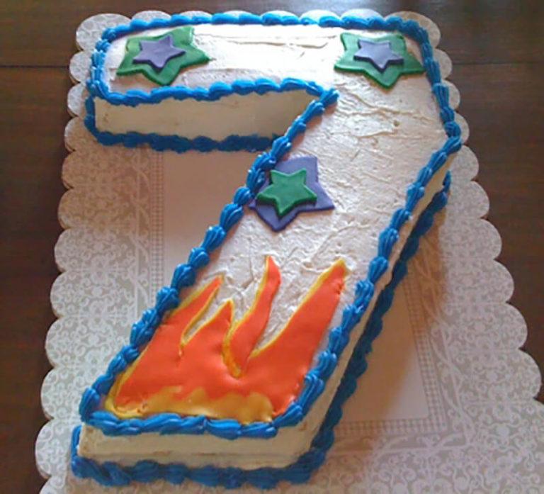Торт для мальчика 7 лет фото своими руками из крема