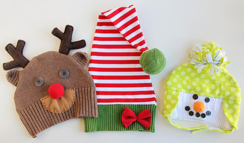 Новогодние шапочки. Новогодние шапки своими руками для детей