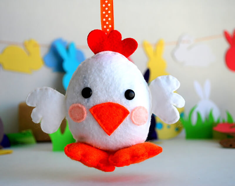 Елочные игрушки Петушки своими руками
