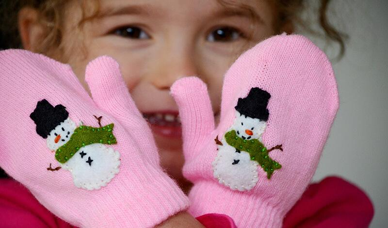 Вязанные детские варежки своими руками