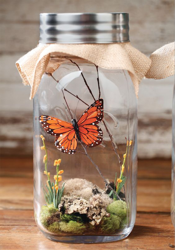 Бабочка в банке как сделана
