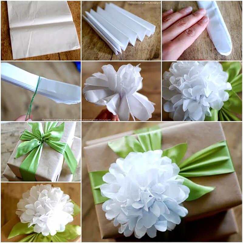 Сделать цветок подарок 87