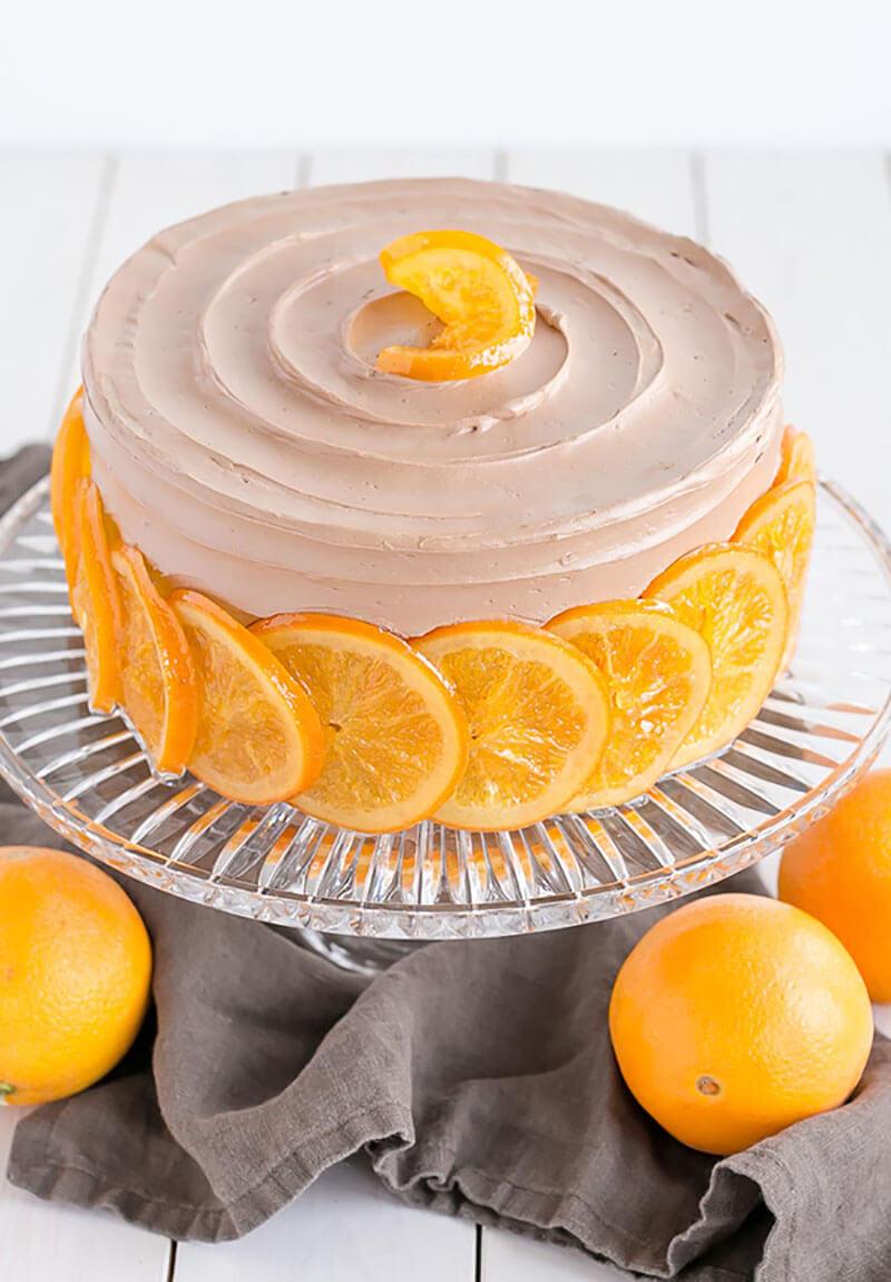 Торты с апельсинами и яблоками