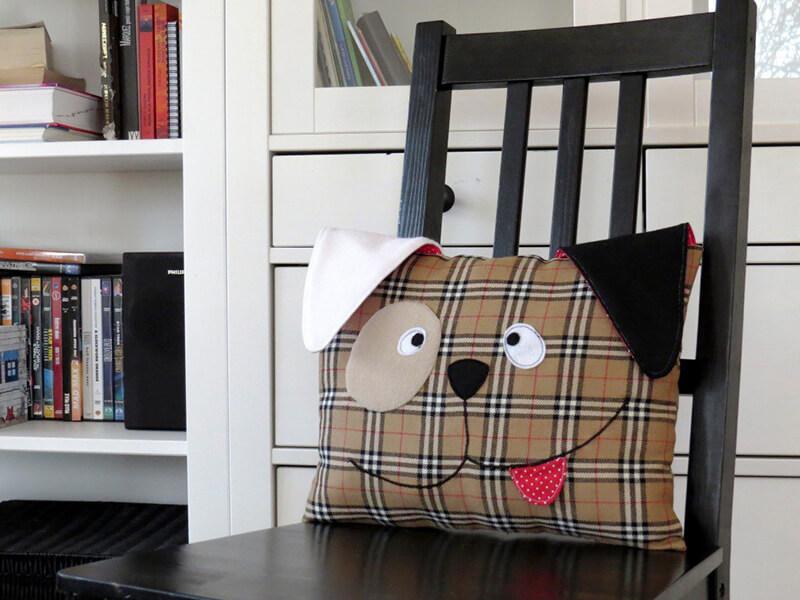Декоративная подушка собачка своими руками 95