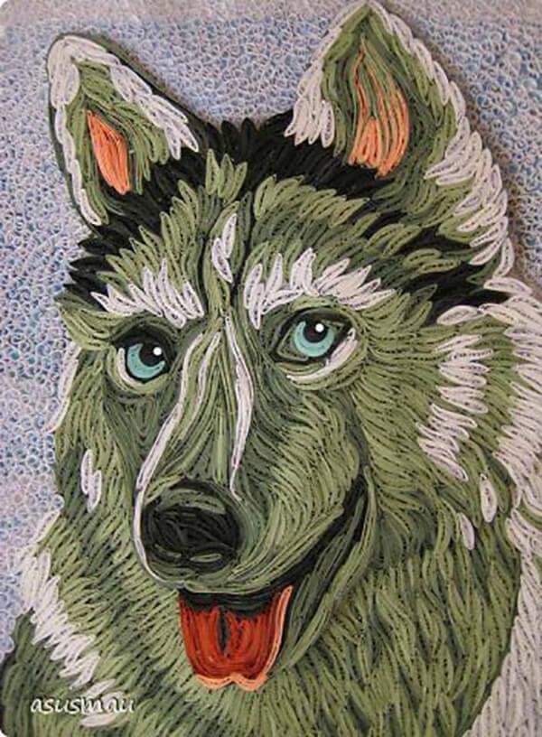 Квиллинг как сделать волка из