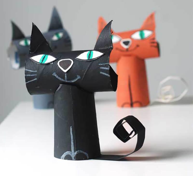 Поделки кошки из картона своими руками