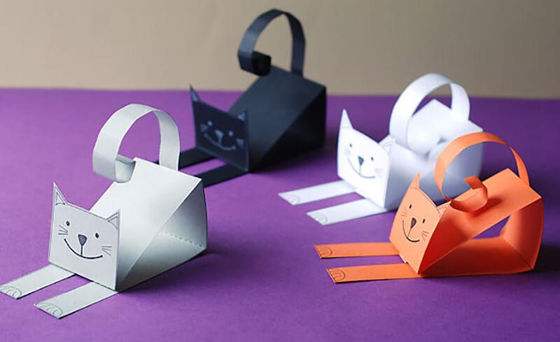 Котята из бумаги как их сделать