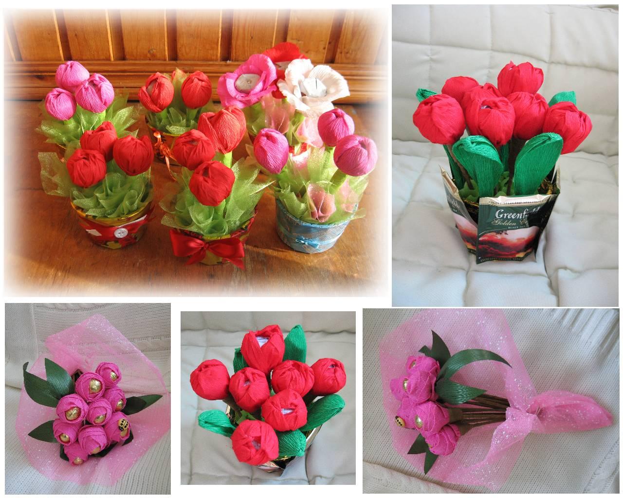 Подарок на 8 марта цветы своими руками фото 711