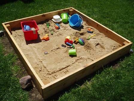 Детские площадки. Как сделать детскую песочницу своими руками?