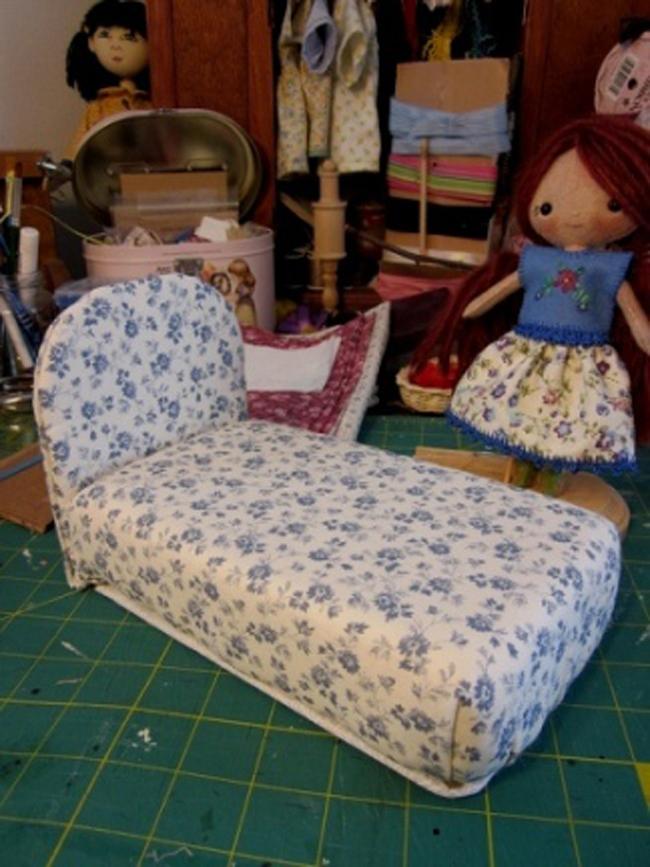 Диван кровать для кукол своими руками фото 936