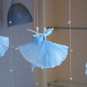 Как сделать из салфетки балерину 900