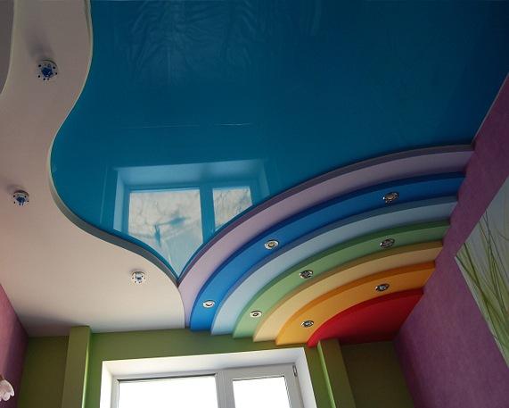 Натяжные потолки в интерьере. Фото натяжных потолков
