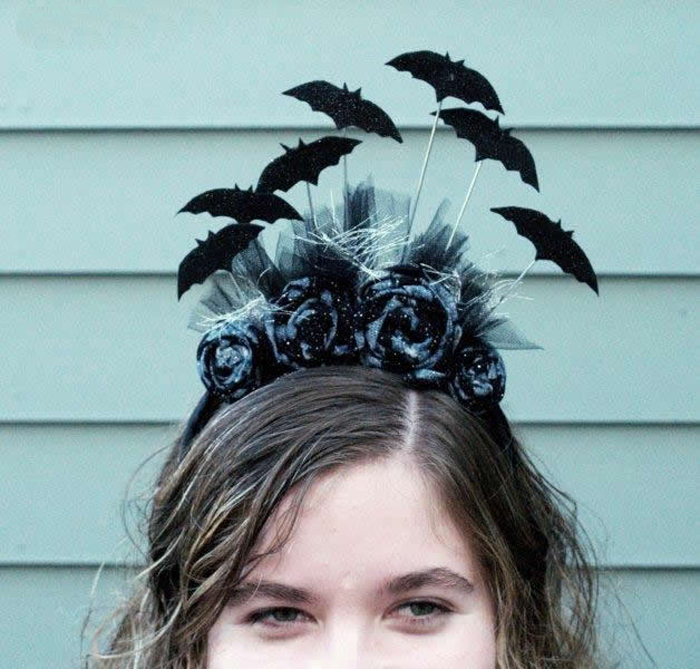 Костюм на Хэллоуин: Ободок для волос «Летучие мыши» своими руками