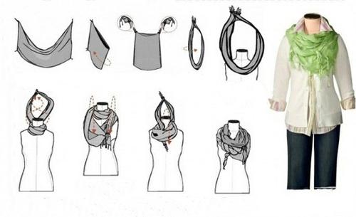 Как красиво завязать шарф? Модные варианты завязывания шарфа