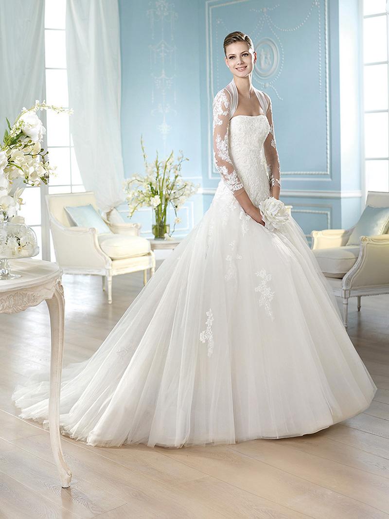 Свадебные платья 2015: модные цвета, фасоны и аксессуары