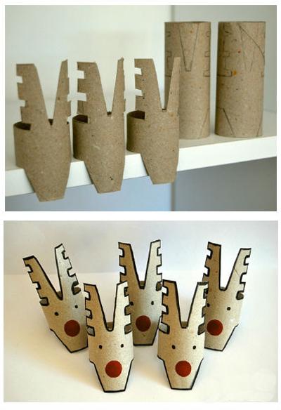 Поделки из туалетных рулонов к Новому году своими руками