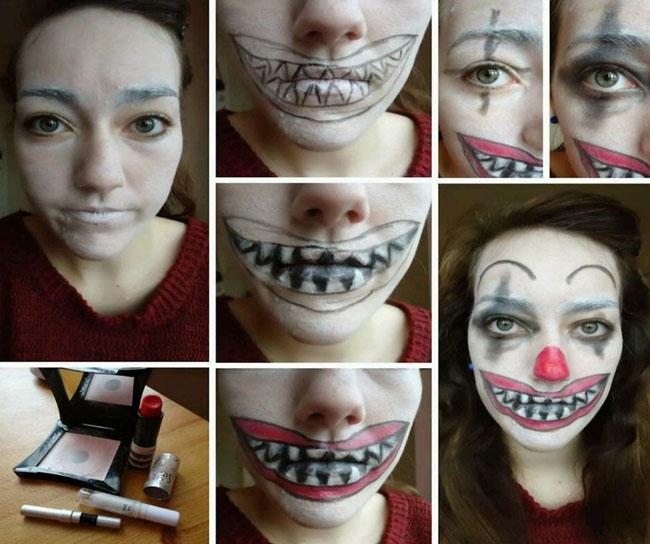 Макияж на Хэллоуин: фото и идеи. Как на Хэллоуин разукрасить лицо?
