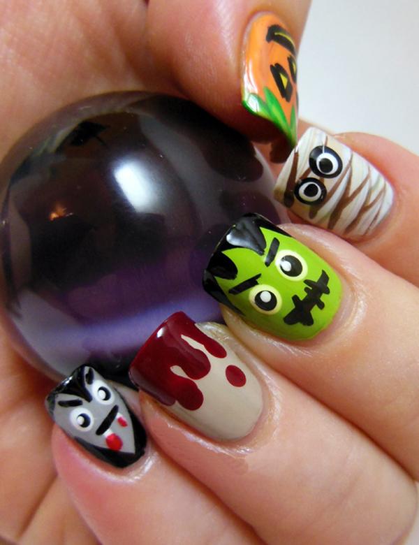 Маникюр на Хэллоуин. Как сделать маникюр на Хэллоуин своими руками?
