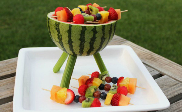 Канапе из фруктов. Как сделать фруктовое канапе к праздничному столу, фуршету?