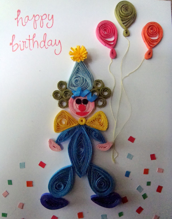 Квиллинг открытки на День Рождения своими руками: фото и идеи