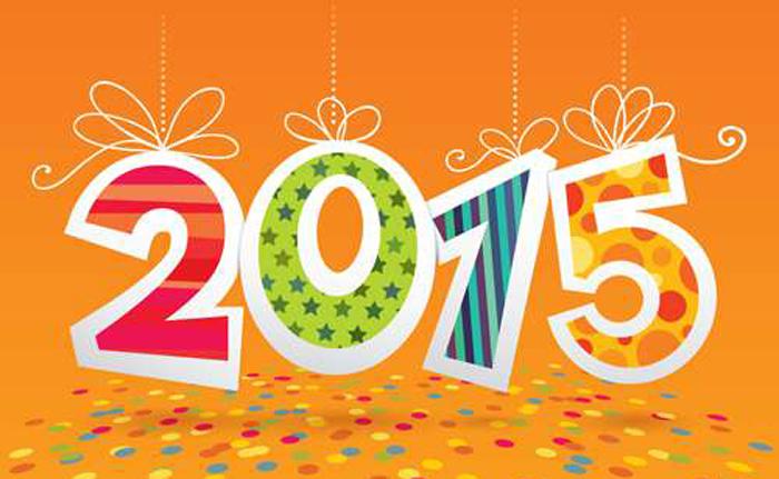 Анимировать, открытка с новым 2015