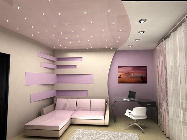 Многоуровневые натяжные потолки: виды и характеристики