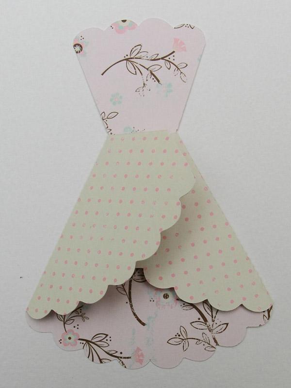 Открытка в виде платья своими руками