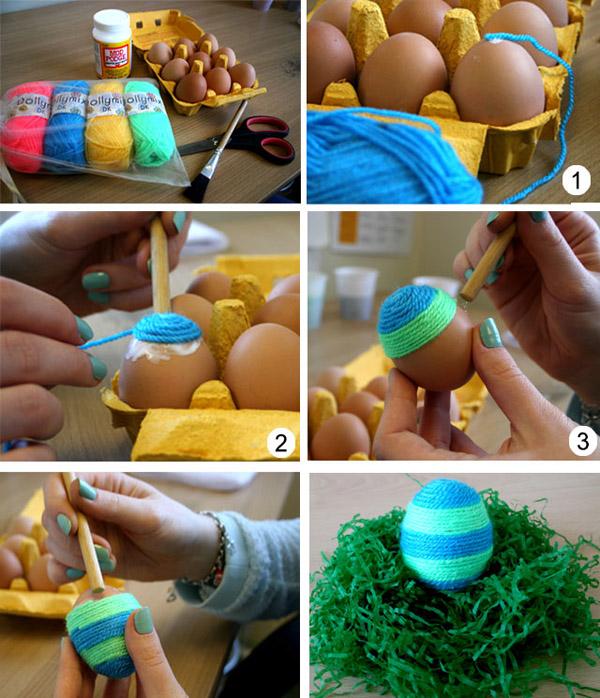 Пасхальные яйца своими руками: яйца из ниток. Как сделать яйца из ниток своими руками?