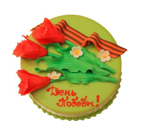 Как украсить торт к 9 мая в домашних условиях: мастер классы, фото и идеи