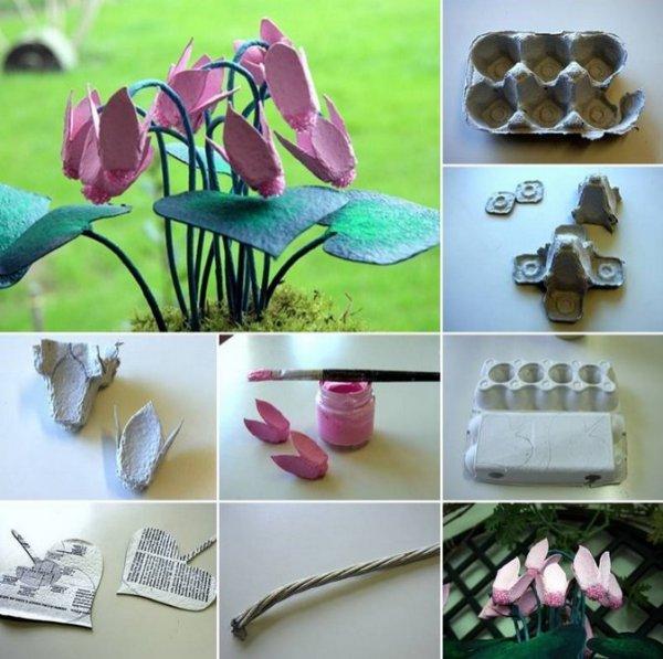 Поделки из яичных лотков: оригинальные идеи, фото и видео мастер классы. Что сделать из яичных лотков?